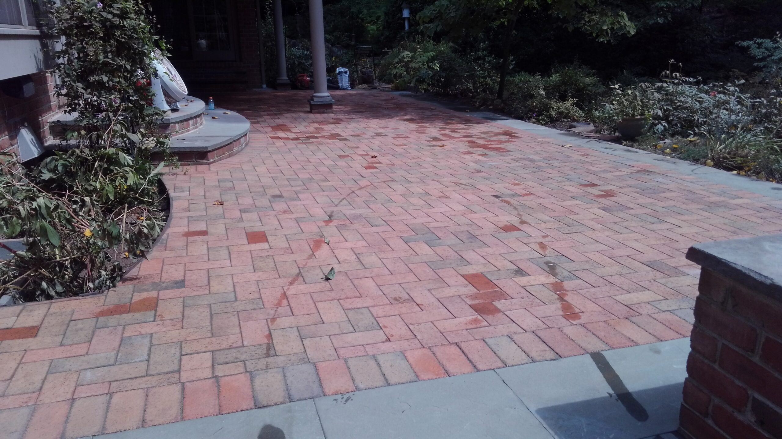 Reclaimed Clay Paver Patio