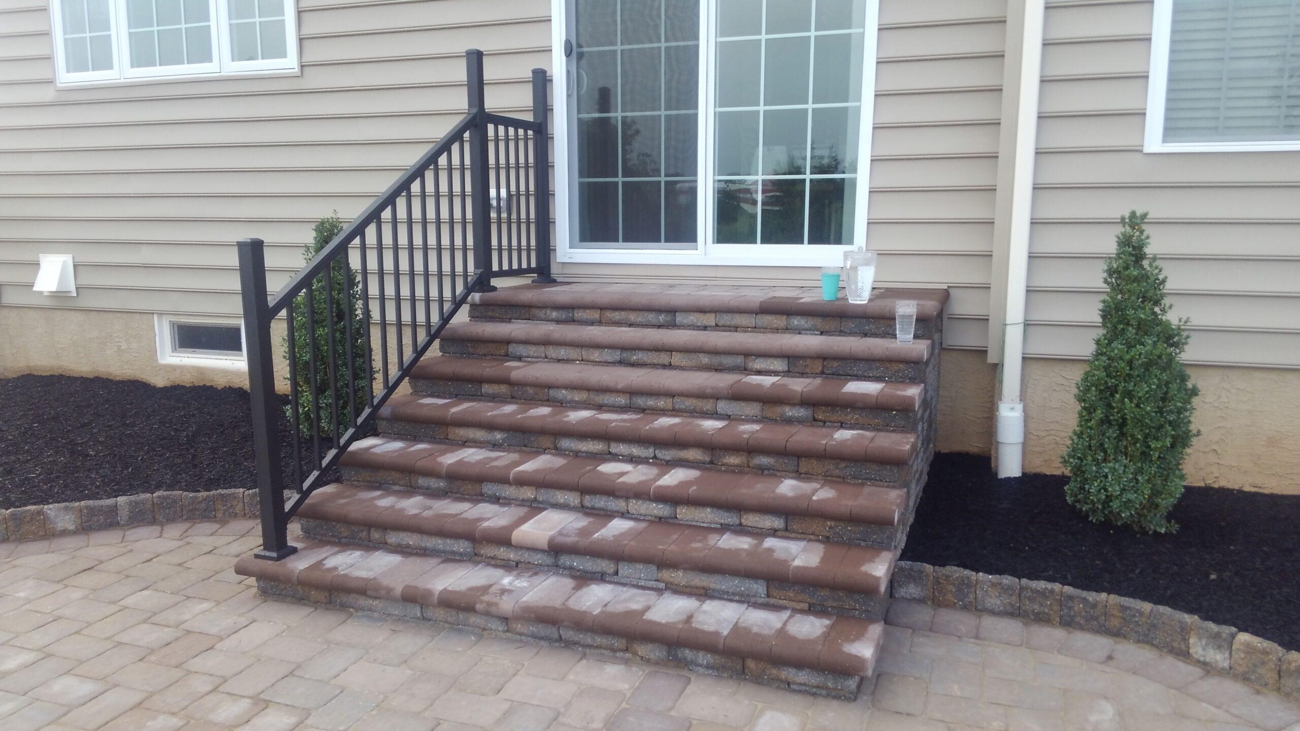 Simple paver steps